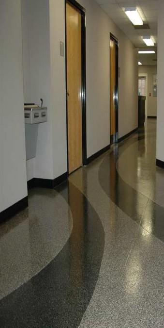 Couloir - sol en résine pailleté